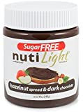 NUTILIGHT - SUGAR FREE, LOW CARB, HAZELNUT AND COCOA SPREAD 11 oz. Jar