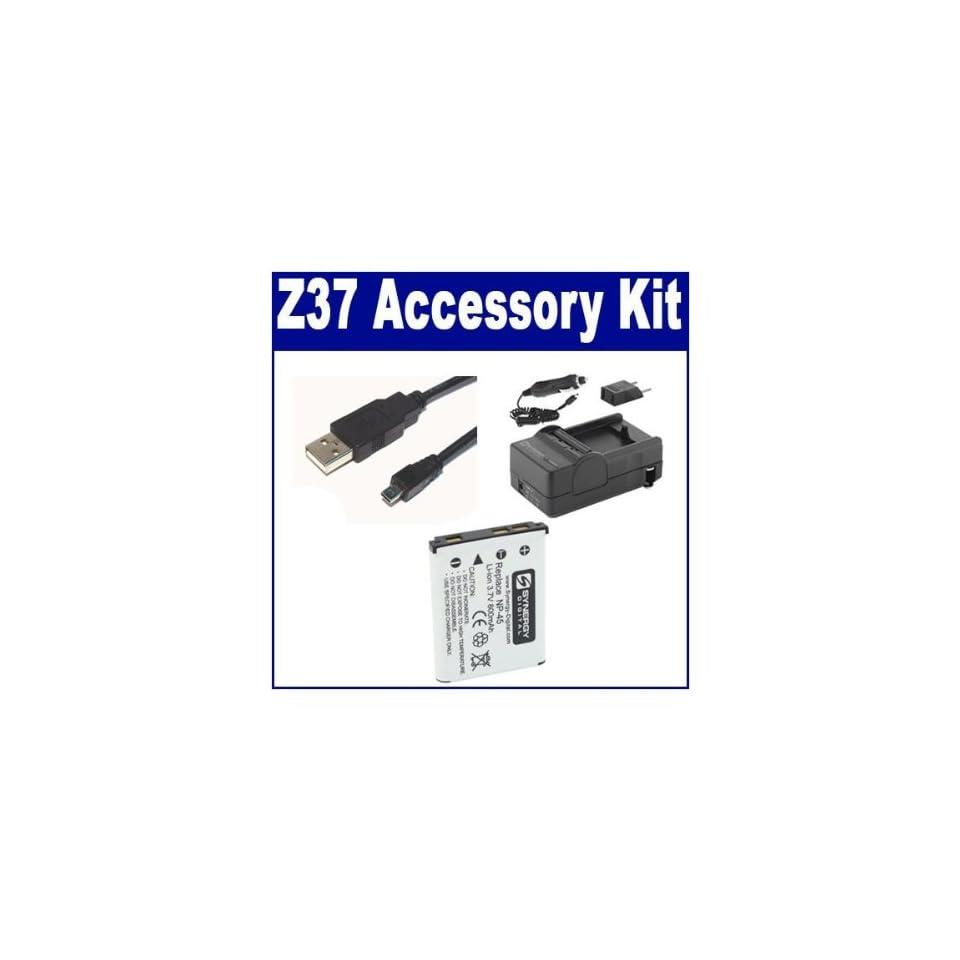 SDNP45 Battery KSD2GB Memory Card Fujifilm FinePix JV100 Digital Camera Accessory Kit Includes: USB8PIN USB Cable SDC-22 Case SDM-141 Charger