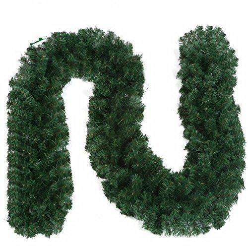 【選べる4色】 クリスマス用 装飾品 ガーランド モール 2個セット (モール(2個セット) 緑 110cm)