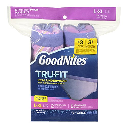 GoodNites TRU-FIT Real Underwear Starter Pack for Girls - L/XL - 1