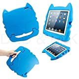 DELED Light Weight Shock Proof Super Protezione Bambini Sicurezza Cabrio Freestanding Maneggiare Regali Custodia Cover Tablet Buon Natale Custodie Kiddie divertenti per Apple iPad 2/3/4 - Blu