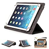 Mulbess - Universal 9 / 10.1 inch (27 cm x 19 cm ) Tablet CleverStrap Filp Leather Case Cover with Stand (for Apple iPad 2/3/4/Air,Samsung Galaxy Tab/Note/Pro/S 3/4 10.1/10.5 ,Acer Iconia Tab A500/W510,Lenovo ideaTab S6000/K3 Lynx/Yoga,Asus MeMo Pad HD 1