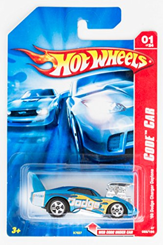 Code Car Series #1 1969 Dodge Charger Daytona Baby Blue #2007-85 Collectible Collector Car Mattel Hot Wheels - 1