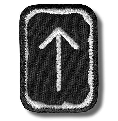 Rune Tiwaz-patch ricamato, 4 X 5 cm.