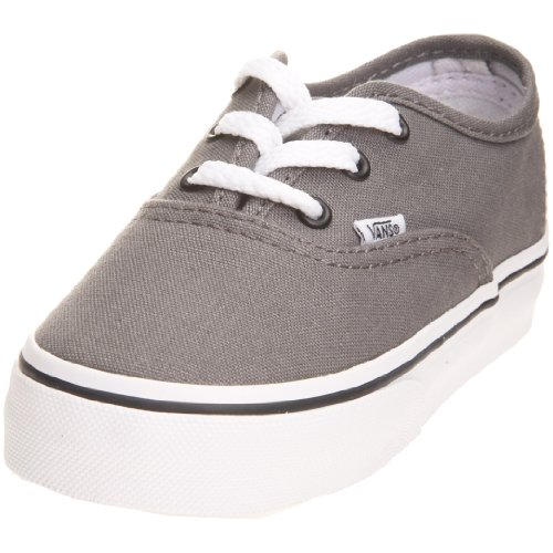 Vans Junior Authentic Skate Shoe Pewter/Black VEE0PBQ 1 UK