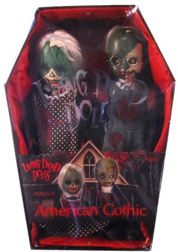 Picture of Mezco Living Dead Dolls American Gothic 2 Pack Bloody Version Case Of 6 Figure (B00355JRJC) (Mezco Action Figures)