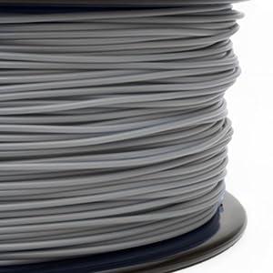 Gizmo Dorks 3mm ABS Filament 1kg / 2.2lb for 3D Printers, Gray by Gizmo Dorks