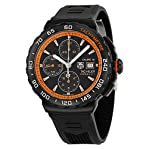 Tag Heuer Formula 1 Black Dial Black Rubber Chronograph Mens Watch CAU2012.FT6038
