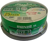Maxell - 25 x DVD-R - 4.7 GB 16x - white - printable surface - spindle - storage media
