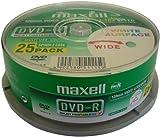 Maxell - 25 x DVD-R - 4.7 GB 16x - white - printable surface - spindle - storage media