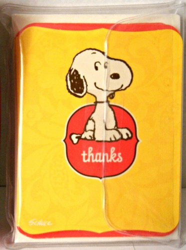 Hallmark Peanuts Baby Snoopy 10 Thank You Cards & Envelopes front-1022933