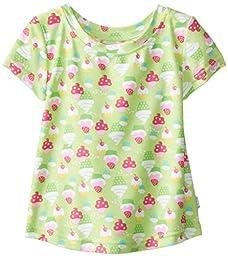i play. Toddler Girls\' Cap Sleeve Rashguard Shirt, Lime, 3T