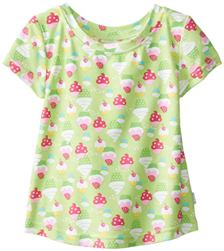 I Play. Baby-Girls Infant Cap Sleeve Rashguard-Classic Lime, Lime, 2-3 Years