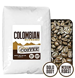 100% Colombian Supremo Coffee, Fresh Roasted Coffee LLC from Fresh Roasted Coffee LLC.