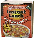 Maruchan Instant Lunch, Hot & Spicy Beef, 2.25-Ounce Packages (Pack of 12)