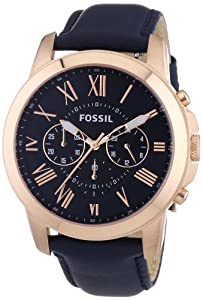 Fossil Men's Quartz Watch FS4835 with Leather Strap