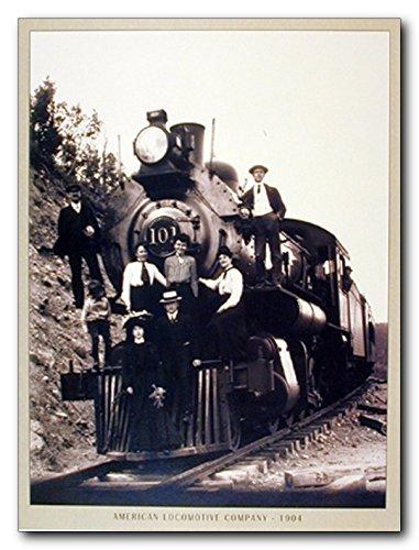 Steam Train Engine Vintage Locomotive Railway Wall Decor Art Print Poster (16x20) (Vintage Train Engine compare prices)