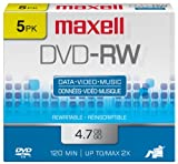 DVD-RW 5 Pack Jewel Case 2x Speed