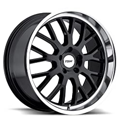 TSW Tremblant Gloss Black Wheel with Machined Lip (19″x8″/5x100mm)
