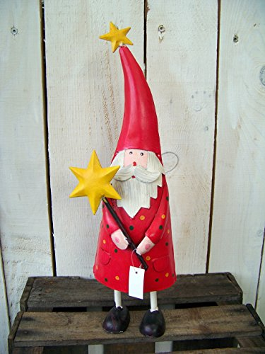 Metallfigur weihnachtsmann mit stern for Gartendeko metallfiguren