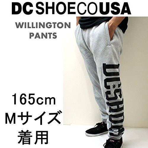 DC SHOE(ディーシーシュー) メンズ スウェットパンツ スリム WILLINGTON PANTS へザーグレー(HTR)(DCSHOE ディーシーシュー) L