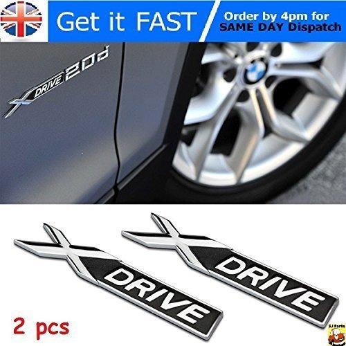 BMW XDrive Emblème Badge Métal Chrome Auto Autocollant Logo Voiture 3D 1 2 3 X1 X3 X4 X5