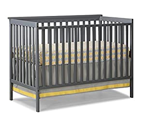 Stork Craft Sheffield Fixed Side Convertible Crib, Gray