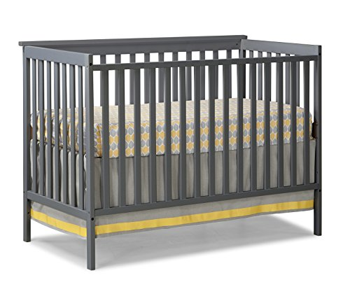 Find Cheap Stork Craft Sheffield Fixed Side Convertible Crib, Gray