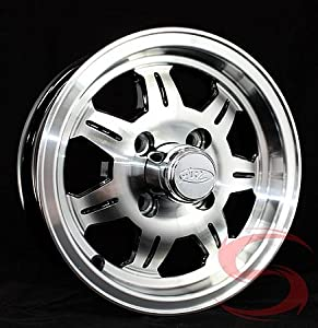 12 Inch Aluminum Sawtooth Trailer Wheel 4 on 4 Lug