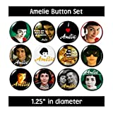 AMELIE BUTTONS pins badges french movie film audrey tautou