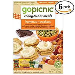 Review Price GoPicnic Ready-to-Eat Meals, Hummus + Crackers, 4.4-Ounce Boxes (Pack of 6)