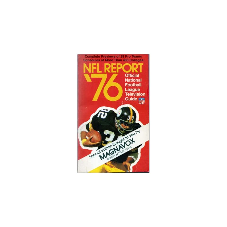 NFL Report 76 Official National Football League