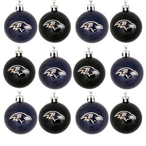 NFL Ball Ornament (Set of 12) NFL Team: Baltimore Ravens