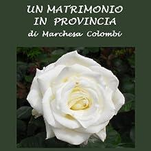Un matrimonio in provincia [A Marriage in the Province] (       UNABRIDGED) by Marchesa Colombi Narrated by Silvia Cecchini