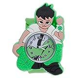 Prettyboy Slap Snap On Silicone Quartz Green Strap Children WristWatch