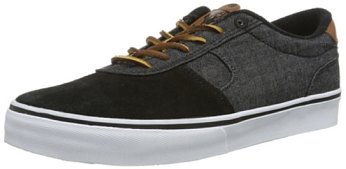 C1RCA Men's Lamb Fashion Sneaker,Black/Black Denim,10 M US