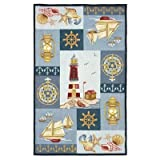Staccato Accents Sailboats Novelty Rug Size: 4' x 6'