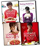 Lorraine Pascale 4 Books Collection Pack Set A Lighter Way to Bake, Lorraine Pascales Fast, Fresh and Easy Food, Home Cooking Made Easy, Baking Made Easy Lorraine Pascale