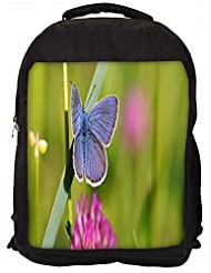 """Snoogg Butterfly In Green Grass Casual Laptop Backpak Fits All 15 - 15.6"""" Inch Laptops"""
