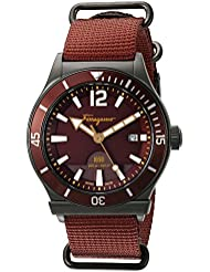 Salvatore Ferragamo Men's FF3220015 FERRAGAMO 1898 Sport Analog Display Quartz Rust Watch