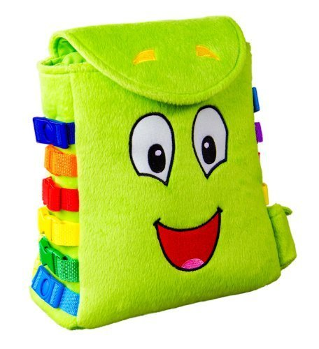 BUCKLE-TOY-Buddy-Backpack-Toddler-Early-Learning-Basic-Life-Skills-Childrens-Plush-Travel-Activity