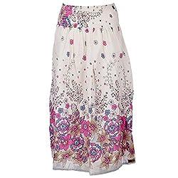 Beautiful Clothes White Stylish Skirt Cotton Crepe Skirt For Women (BCA2025)