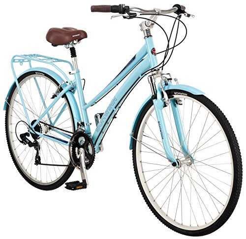 Schwinn Women\'s Community 700c Hybrid Bicycle, Light Blue, 16-Inch ...