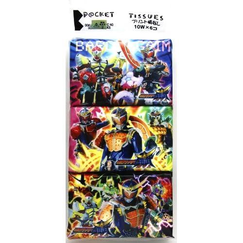 仮面ライダー鎧武/ガイム キャラクターポケットティッシュ ミニサイズ6P×3個セット