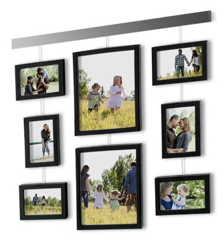 Picture Frame Wall Set 9 Piece Hanging Bar Family Photo