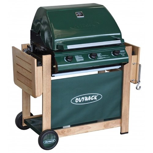 Outback Hunter Select 3 Burner Gas BBQ - Free Cover