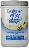 Designer Protein Sustained Energy - Premium Protein Powder with Soy, Vanilla Bean, 1.5 Pound