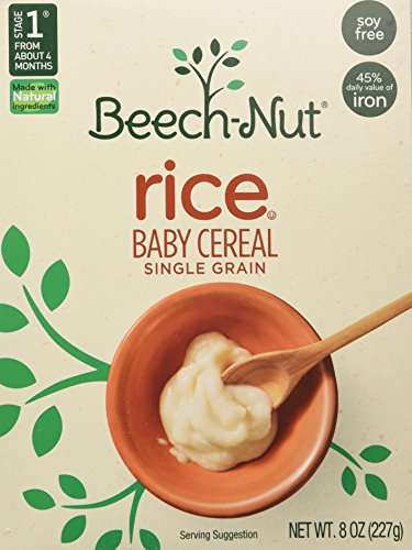 Beech-nut Homestyle Baby Cereal, Single Grain Rice, Stage 1 8 Oz -6 Packs