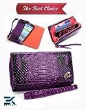 PU Leather Women's Wallet Wristlet Clutch Universal Phone Bag compatib... review