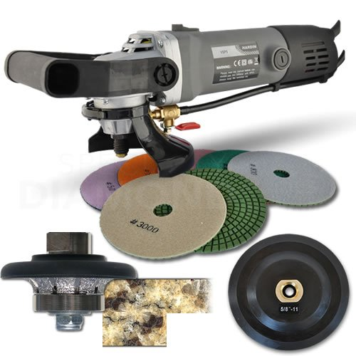 Hardin 38WVPOLSET 3/8-Inch Radius Stone and Concrete 1/4 Round Bullnose Shaping and Wet Polishing Kit